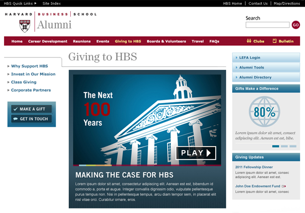 Harvard Business School Alumni Giving