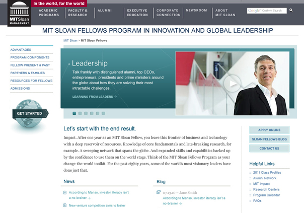 MIT Sloan Fellows Program